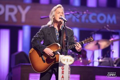 On the stage of The Grand Ole Opry